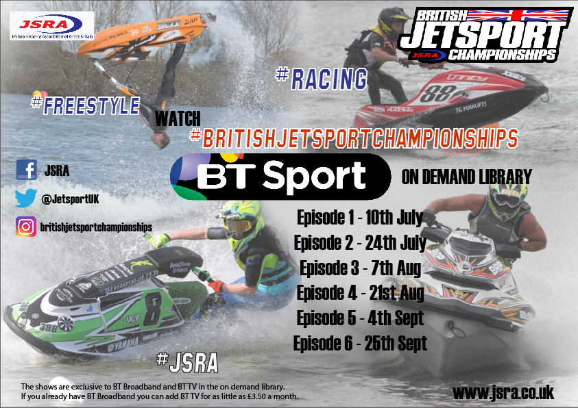 Episode 1 of the British JetSport Championships are released on the BT Sport on demand platform Monday 10th July, here's how to watch..