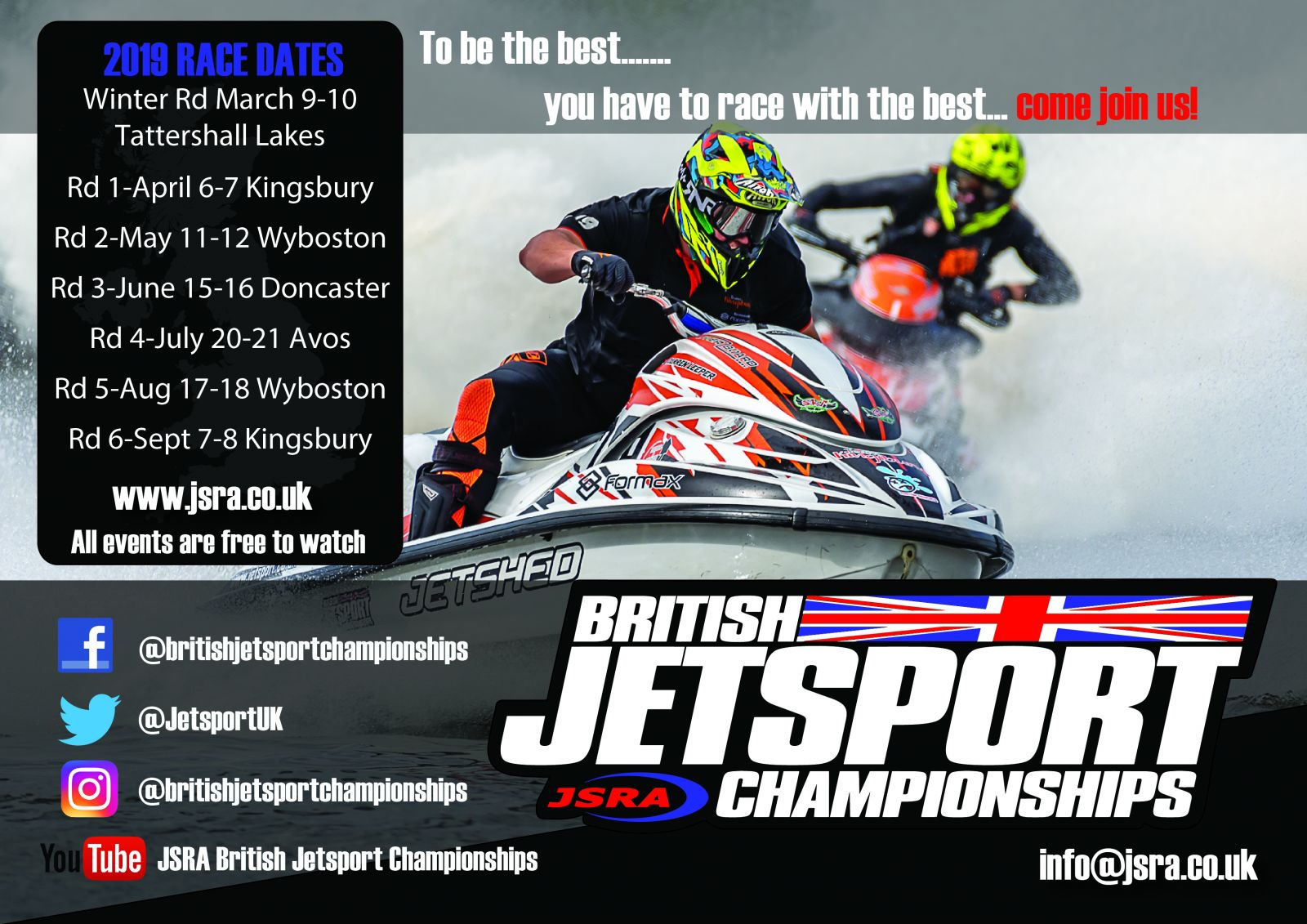 2019 British Jetsport Championships Race Dates