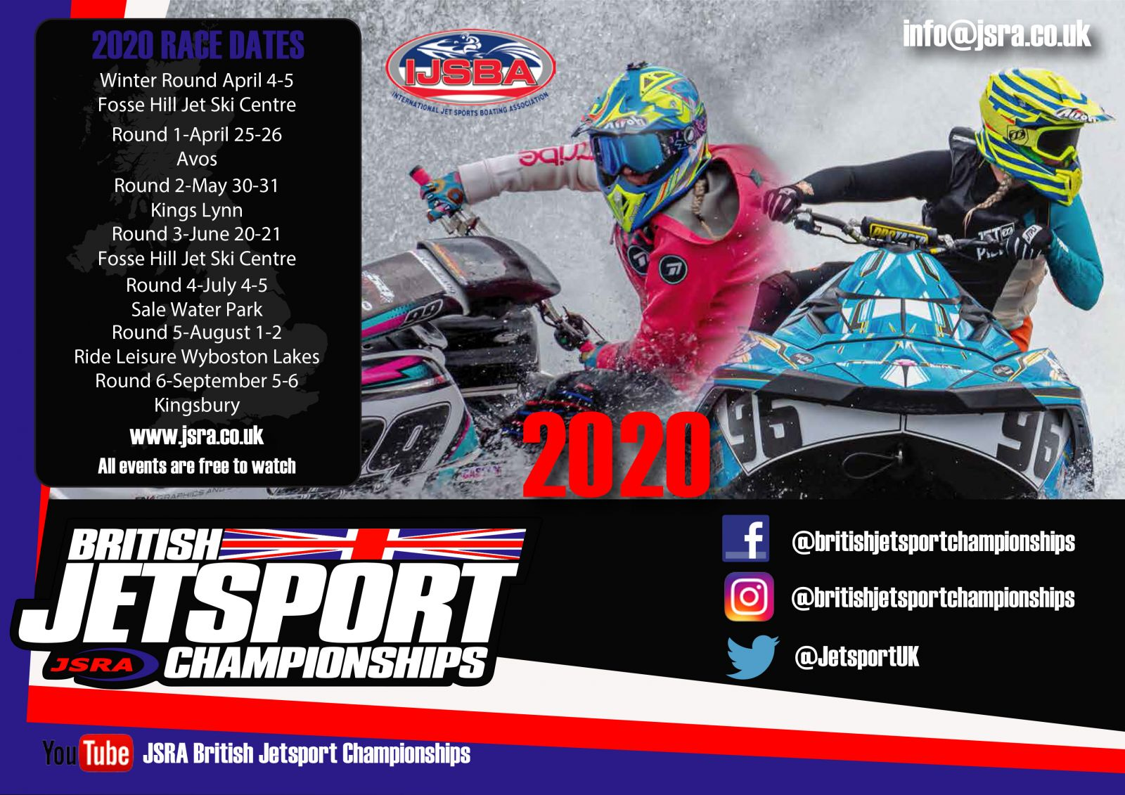 2020 British Jetsport Championships Race Dates
