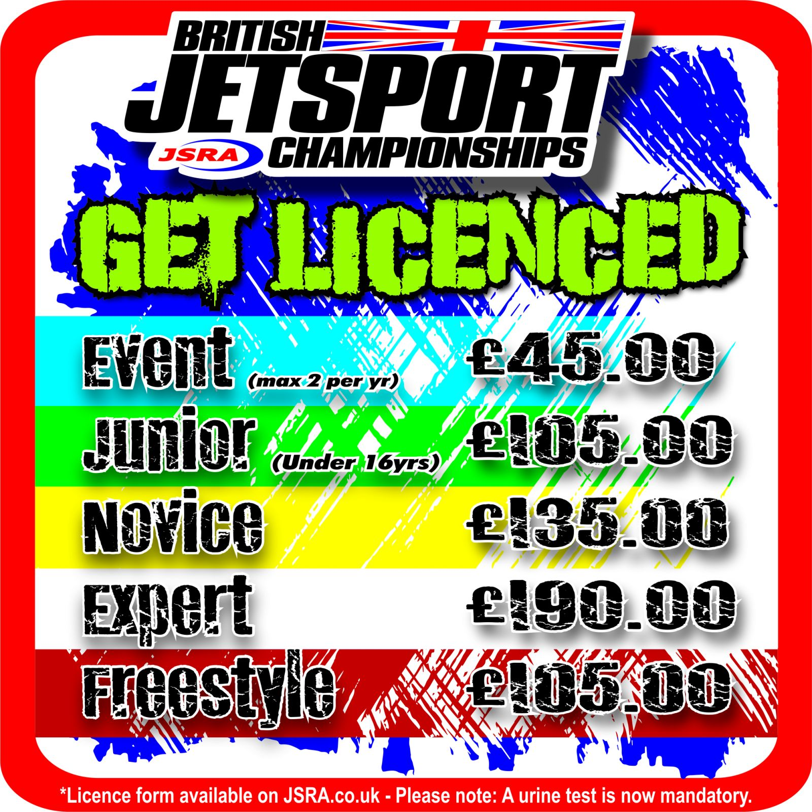 2019 British Jetsport Championships Race/Freestyle Licence Fees