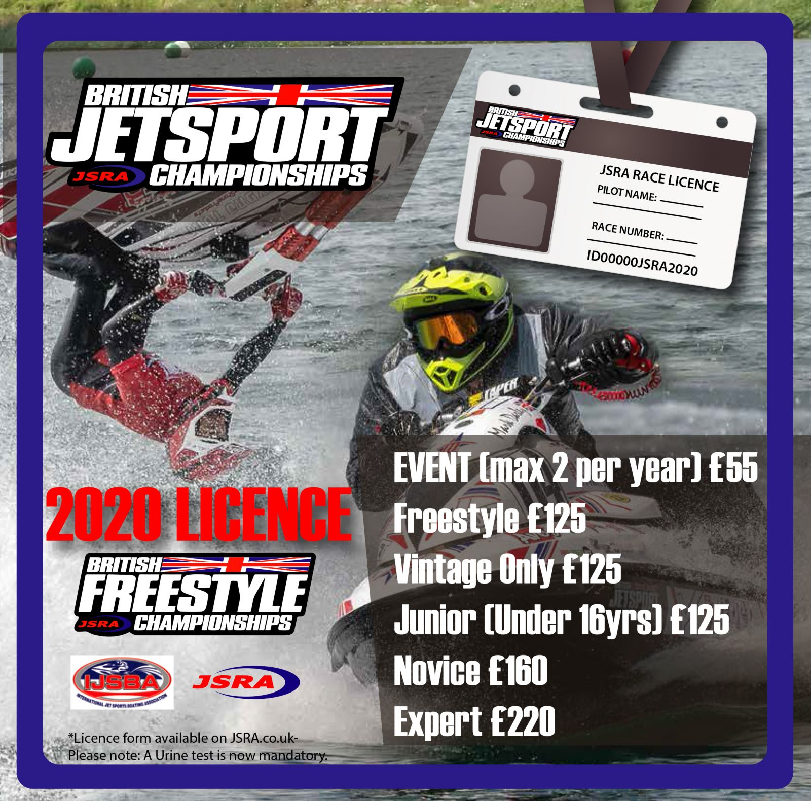 2020 British Jetsport Championships Race/Freestyle Licence Fees