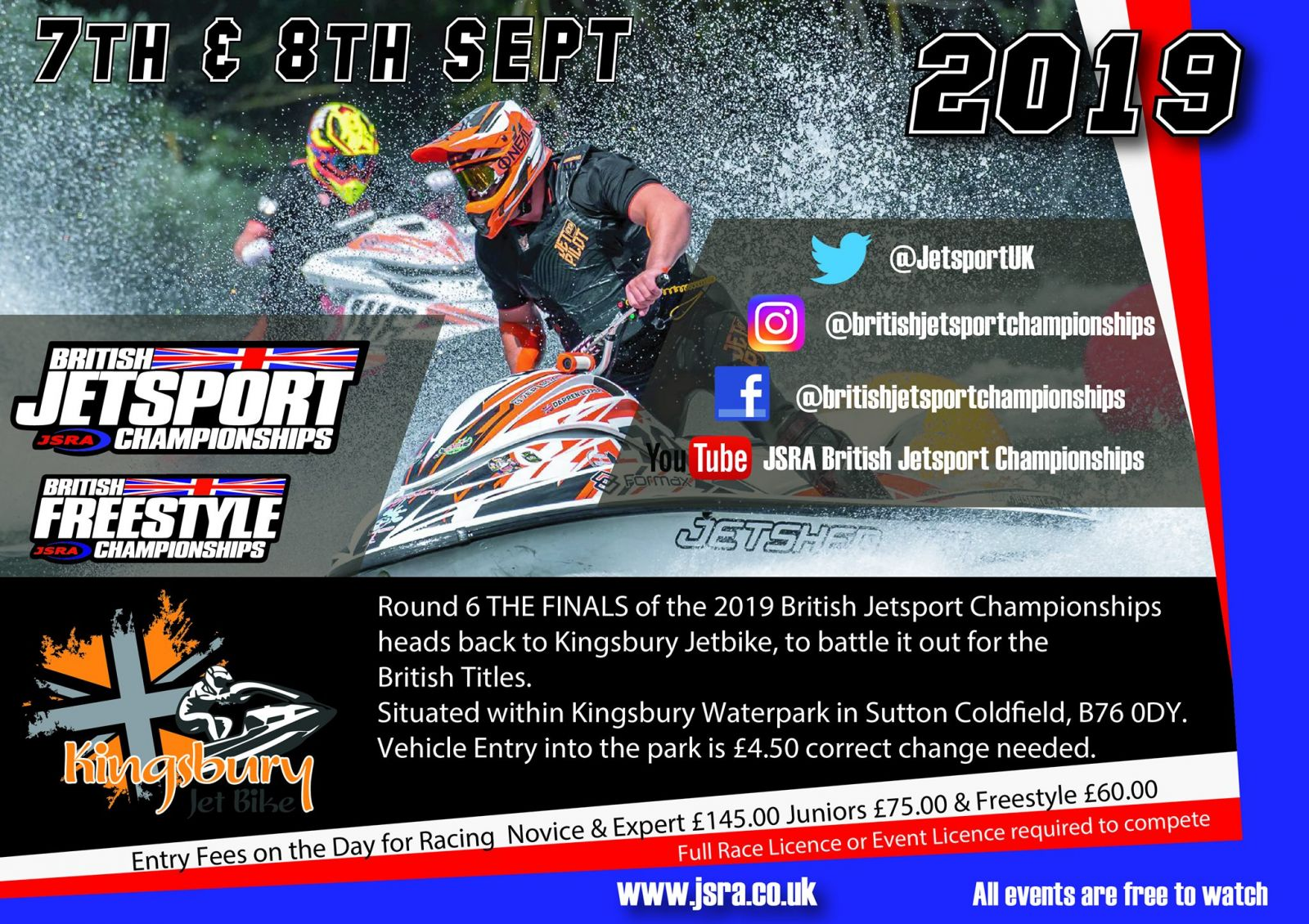"Rd 6 ""The Final"" Itinerary, Kingsbury Jet Bike Centre, B76 0DY."
