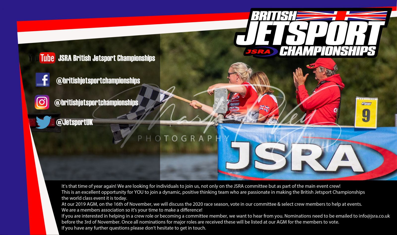 Do you want to be a part of the 2020 JSRA Committee & Crew